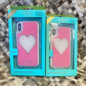 Kate Spade Heart Liquid Glitter Case